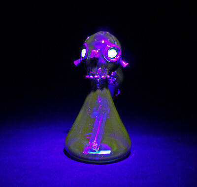 GOBLE Water Pipe (UV & 6 inch) Glass Bong Smoking Pipe Glass Bowl Hookah
