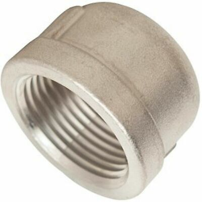"1-1/4"" 316 Stainless Steel Pipe Cap 10 Pieces"