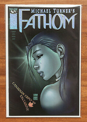 Fathom #8, Canadian Expo '98, Speckled Foil, NM, Top Cow, Michael Turner