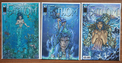 Fathom #1, 3 covers, NM, Top Cow, Michael Turner