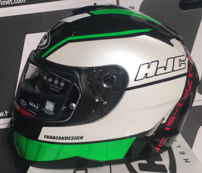 449f8aee HJC IS-17 Tridents Black Green Full Face Motorcycle Helmet NEW Small S IS17