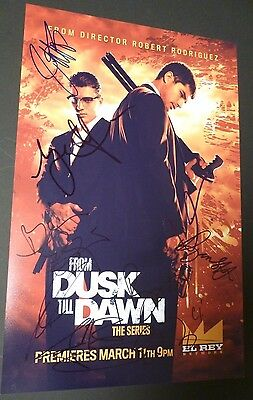 FROM DUSK TILL DAWN Series Cast (x8) Authentic Hand-Signed 11x17 Photo (PROOF)