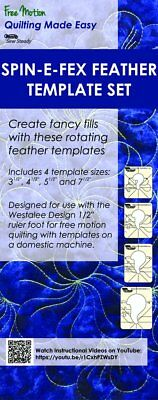 Westalee Spin-E-Fex Feather Template 4 Piece Set