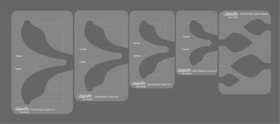 Westalee Set of 5 Feathered Leaf Template for Quilting