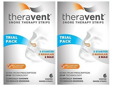 Theravent Snore Therapy Strips Trial 2 Box Pack 12 Strips Total Exp 03/20 A352