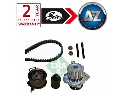 For VW Polo 1.9 TDI 130HP -09 Gates Powergrip Timing Cam Belt Kit And Water Pump