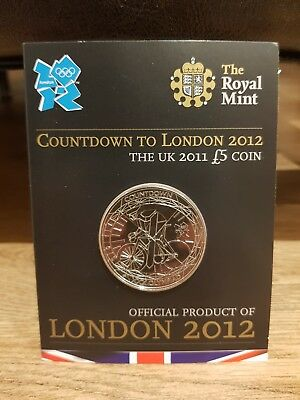 """RARE ROYAL MINT £5 COIN  2011 """"COUNTDOWN TO LONDON 2012. Sealed ONLY 3 Left!!"""