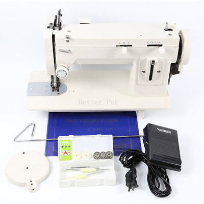 industrial strength walking foot zig zag and straight stitch sewing machine #