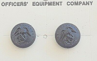 USMC Marine Corps Black Buttons Screw Back NEW FREE SHIPPING