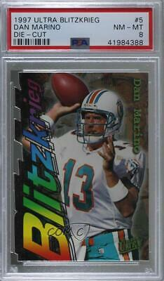 1997 Fleer Ultra Blitzkrieg Die-Cut 5 Dan Marino PSA 8 NM-MT Miami Dolphins Card