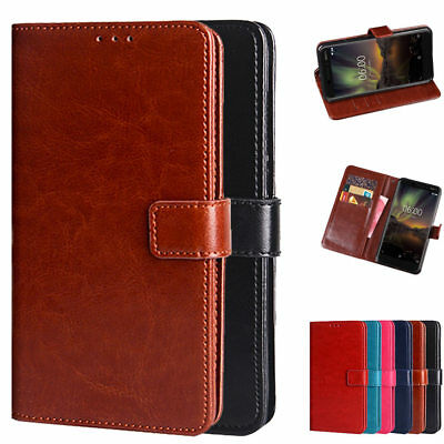 Luxury PU Leather Wallet Card Flip Stand Cover Case For Nokia 6.1 (Nokia 6 2018)