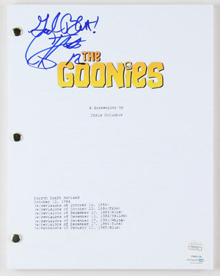 JOSH BROLIN SIGNED Autographed THE GOONIES Full Movie Script