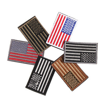 American Flag Embroidered Patch Iron/Sew-on United States Border USA Military