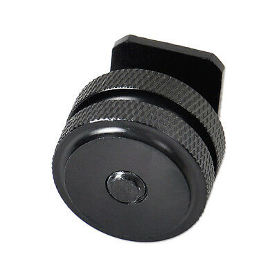 New 1/4 Inch Dual Nuts Tripod Mount Screw to Flash Camera Hot Shoe Adapter Tool