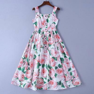 050ca9cc9578 wholesale runway Spaghetti strap Sleeveless Panelled Print Floral Pleated  dress
