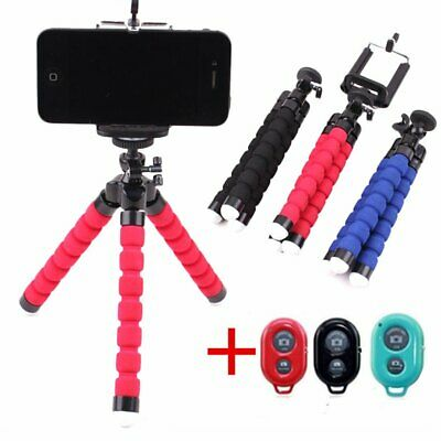Unversal Cell Phone Holder Flexible Octopus Tripod Bracket Selfie Stand Monopod
