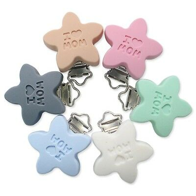 Baby Pentagram Silicone Soother Pacifier Clip Holder Dummy Strap Duckbill Buckle