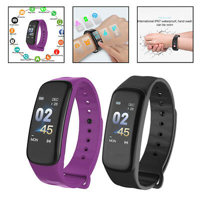 Unisex Bluetooth Smart Watch Tracker Heart Rate Calorie Android iOS Adults&Kids