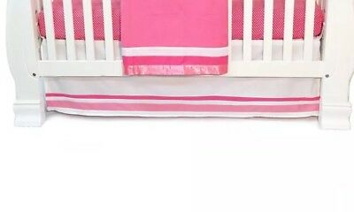 One Grace Place Simplicity Hot Pink Infant Crib Bedding - Crib Skirt