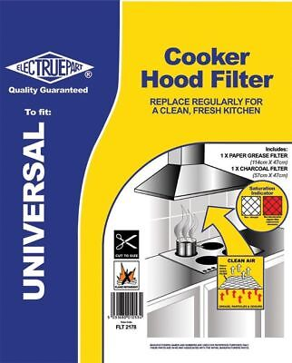 Cooker Hood Filter Electrolux Universal Extractor Grease/Carbon Charcoal FLT2178