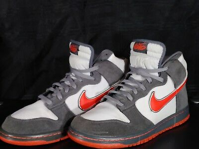 premium selection 07b8f 8e73a Men s Nike Dunk High Grey Red Skate Shoes 506266-001 SIZE 11
