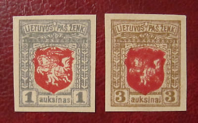 Lithuania Berlin issues 1919 NO watermarks