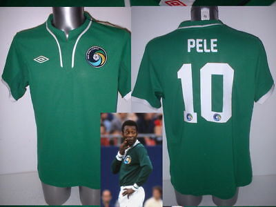 New York Cosmos Pele Shirt Jersey BNWT M L XL Umbro Football Soccer Brazil Top