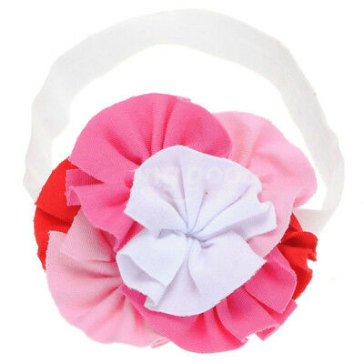 Top Baby Toddler Girl Soft Cotton Colourful Flowers Hair Headband White,Pink