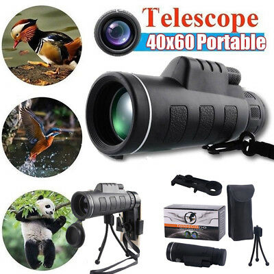 High Power 40X60 Portable Night Vision WaterProof Monocular Objective Lens USA