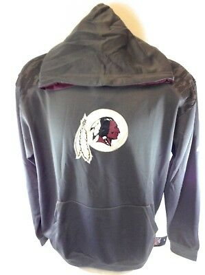 NEW Mens NFL Majestic Therma Base Washington Redskins Armor II Pullover Hoodie
