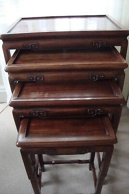 Chinese Quartetto Hardwood Tables Circa 1890