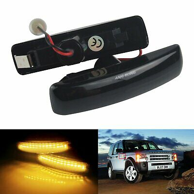 2pcs Land Range Rover Sport Amber LED Indicator Side Repeater Light Freelander 2