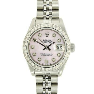 Pre Owned Rolex Oyster Perpetual Datejust Steel Ladies Watch 69190 RW0299