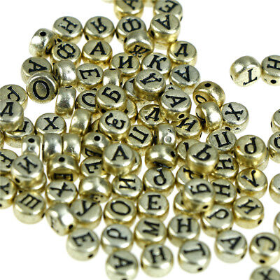 100pcs Russian Letters Beads Alphabet Acrylic Beads For DIY Jewelry Making CL