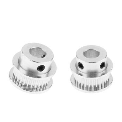 2pcs 8mm Bore Aluminum Alloy 3D Printer GT2 Timing Belt Pulley 30 Teeth