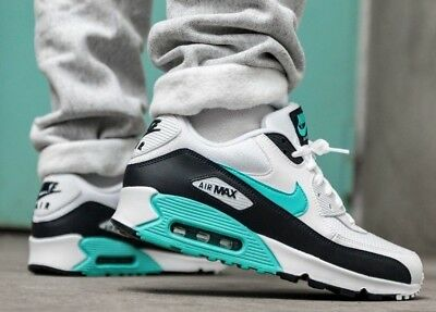 NEW NIKE AIR Max 90 Essential Mens white green obsidian size