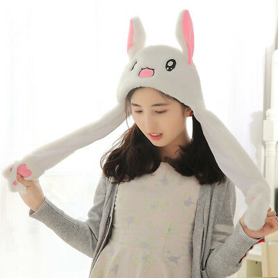 US Rabbit Ear Hat Can Move Airbag Magnet Cap Plush Gift Record Video Dance Toy