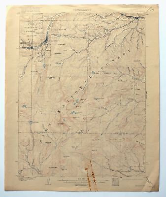GEORGETOWN COLORADO VINTAGE USGS Topo Map 1905 Idaho Springs Topographic