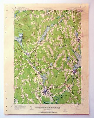 1955 Pittsfield Maine Dexter Newport Vintage 15-minute USGS Topographic Topo Map