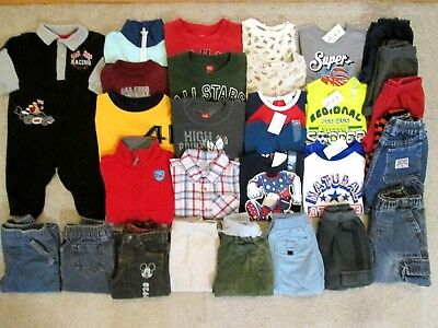 Huge Baby Boys Fall Winter Spring Outfits Clothes Lot Size 6-9 12 Months NWT/EUC