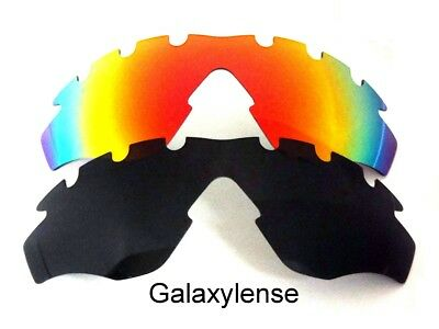 e1c0f034c2a49 Galaxy Replacement Lenses For Oakley M2 Frame XL Vented Black Red Sunglasses