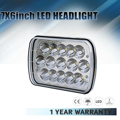7X6 Clear Lens LED GM HID Headlight High/Low Replacement H6014 H6052 H6054 4x4&
