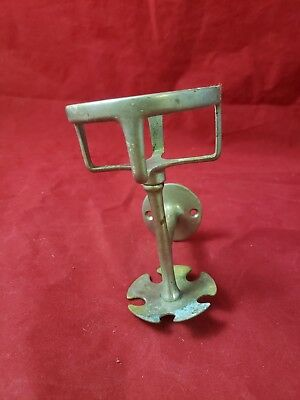 Antique Vintage Wall Mount Cup Toothbrush Holder chrome brass sold as found C2