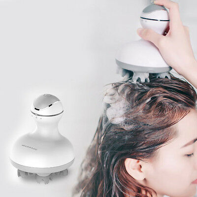 Electric Smart Head Scalp Massager Dry / Wet Use Brain Relief Relaxing Tool