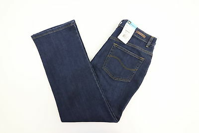 NEW LEE VERONA Relaxed Fit Womens Straight Leg Dark Wash