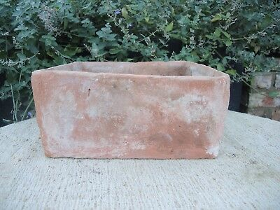 "Rare Old  Hand Thrown  Vintage Square Terracotta Seed Pan 11"" Square (1188)"
