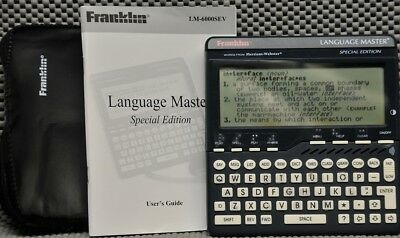 Franklin Speaking Language Master Dictionary Thesaurus LM-6000SEV for Blind (#3)