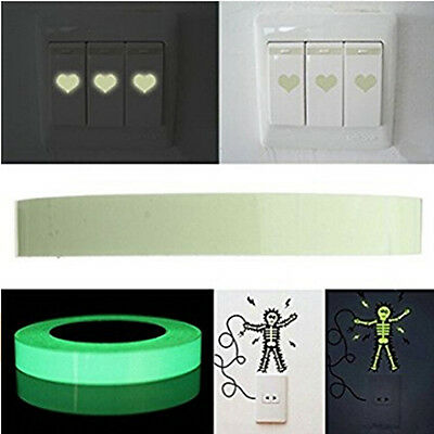 Anti-Slip Adhesive Warning Tapes Novel Luminous Fluorescent Green Signal Warn F
