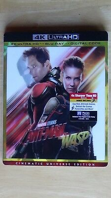 Marvel Ant-Man And The Wasp 4K Ultra HD + Blu-Ray + Digital Code NEW Slipcover