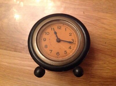 Antique Drum Clock For Restoration Or Parts